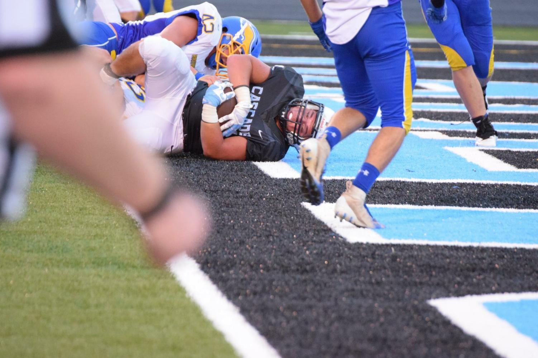 Senior Conner Horning scores a touchdown.