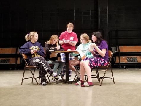 Members of the CHS Drama Club rehearse Neil Simon