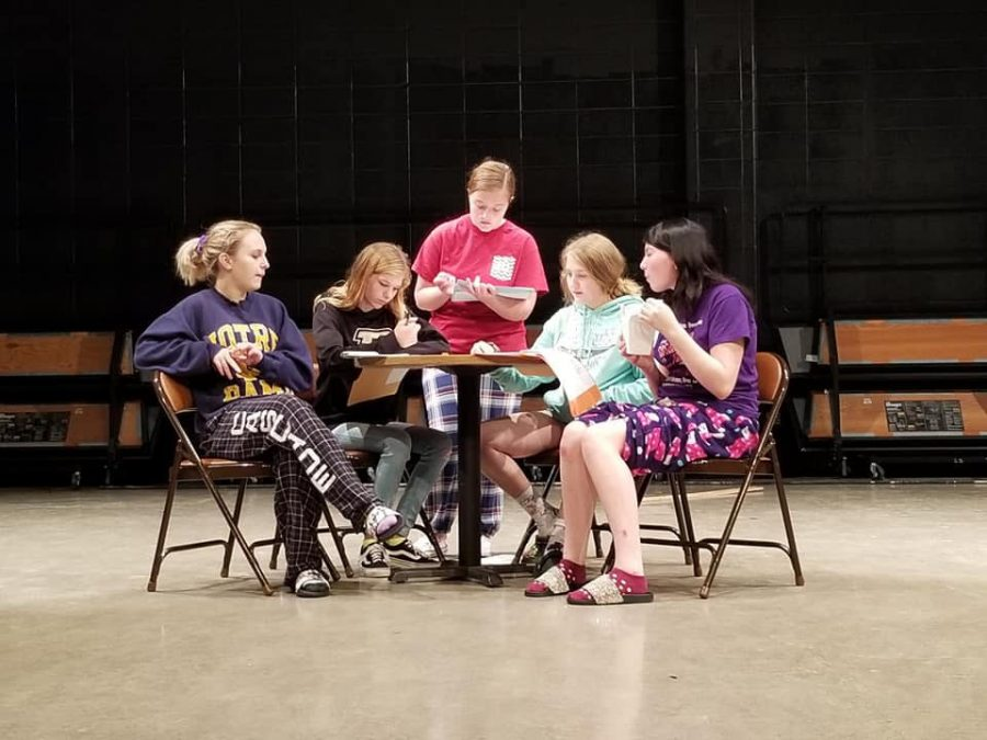 Members of the CHS Drama Club rehearse Neil Simon's