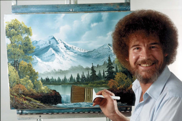 This undated image released by Copyright Bob Ross Inc./The Joy of Painting, shows the late Bob Ross, host of the PBS series